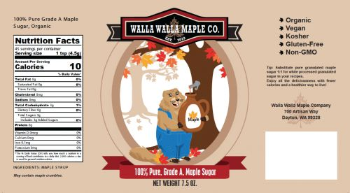 Walla Walla Maple Company - Maple Sugar Wrap-Style Label